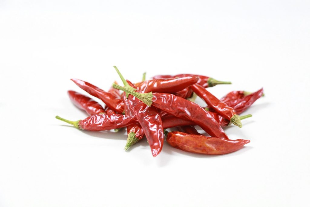 Bild Dörrgerät getrocknete Chilis
