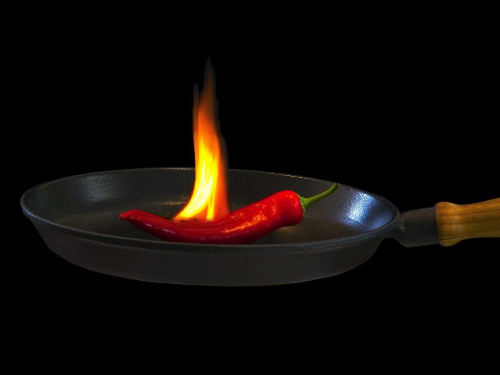 Bild brennende Chili