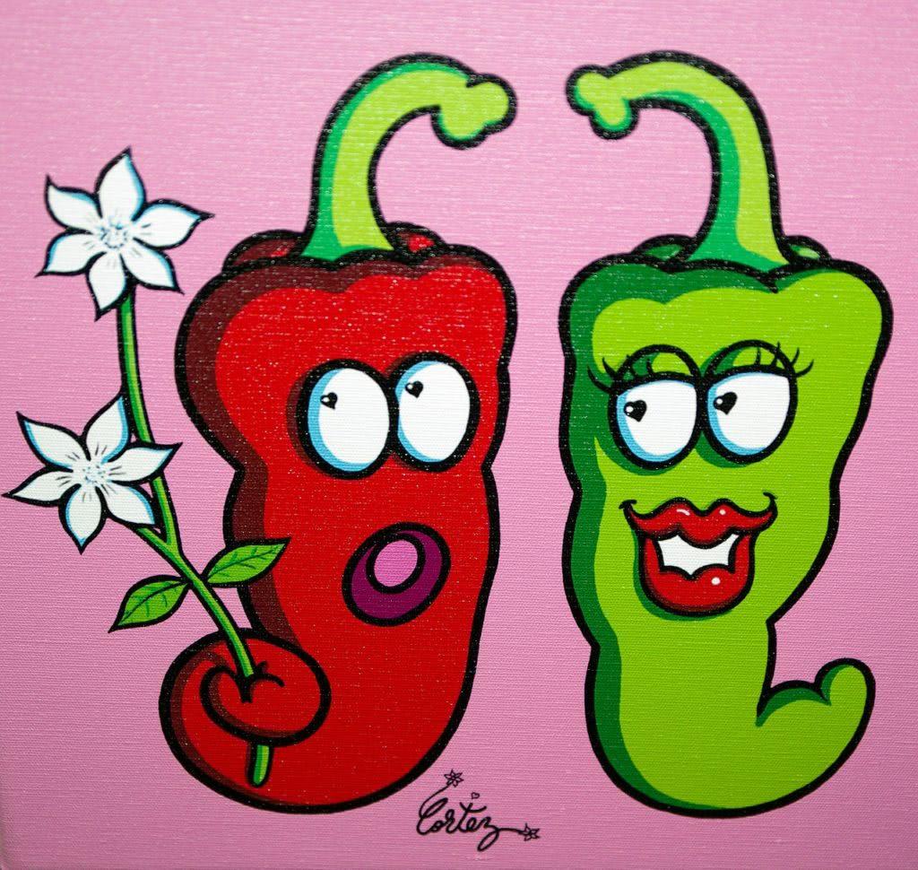 Bild lustiges Paar Chili