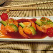 Garnelen mit Sriacha Sauce