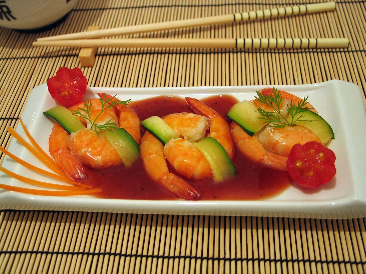 Garnelen mit Sriracha Sauce