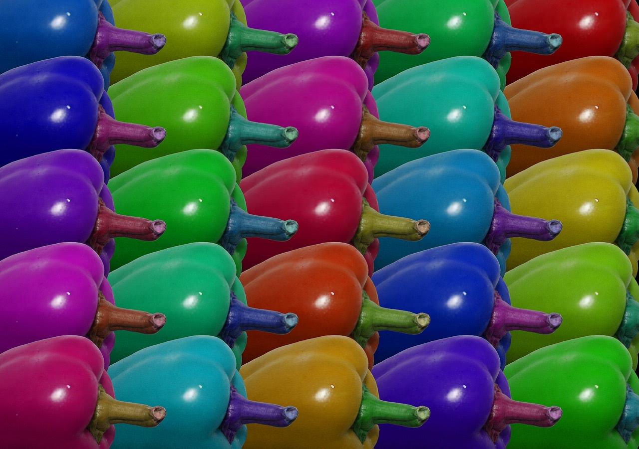 Bild Chili und Paprika Farben